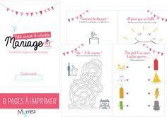 Occupez les enfants à un mariage avec le livret de coloriages et de jeux à télécharger et à imprimer gratuitement ci-dessous…