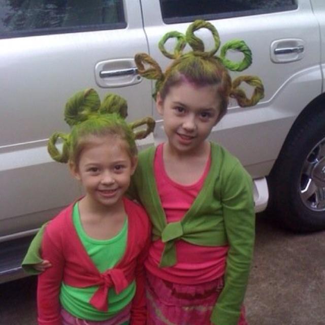 Crazy hair day! Spirit week at school calls for crazy hair ...