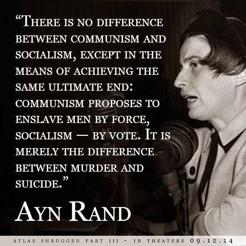 Socialism vs. Communism- Ayn Rand