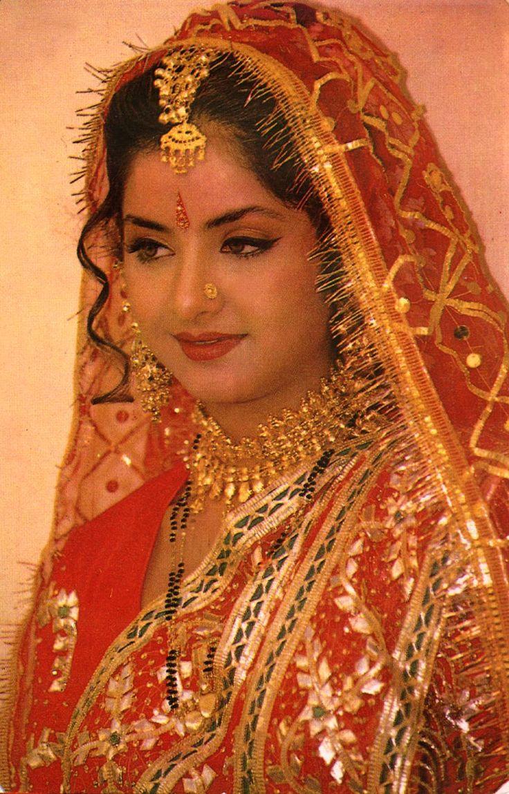divya bharti ; vintage bride