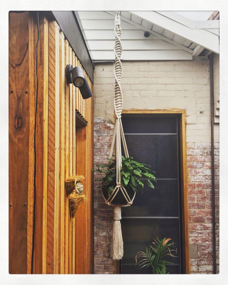 Giant macrame plant hanger by warp & weft. Great statement piece.