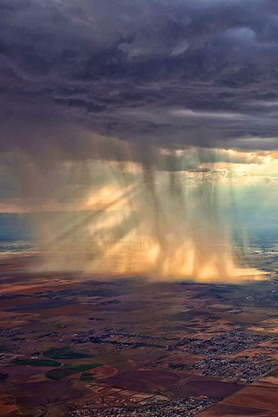 How rain looks from the plane !