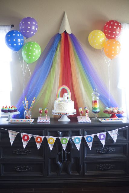 "Photo 11 of 26: Rainbow Unicorn / Birthday ""Cammis 5th Birthday"" | Catch My"