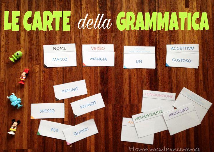 Alla scuola qui a ZurigoPF ha iniziato a studiare l'analisi grammaticale già dalla prima elementare, utilizzando un metodo simile a quello Montessori: con figure colorate per distinguere le divers...