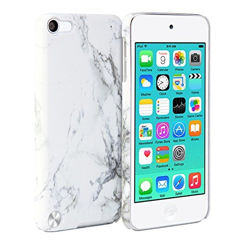 iPod 5 Case, GMYLE Cover Case Print Crystal for ipod Touch 5th Generation - White Marble Pattern Slim Fit Snap On Protective Hard Shell Back Case