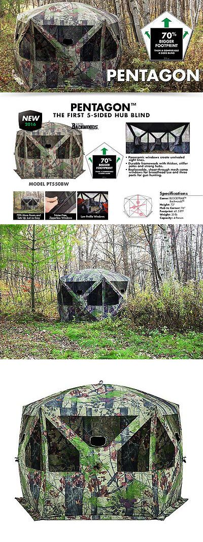 Blinds 177910: Baronet 3 Man Pentagon 5 Sided Bloodtrail Backwoods Ground Blind -> BUY IT NOW ONLY: $228.99 on eBay!