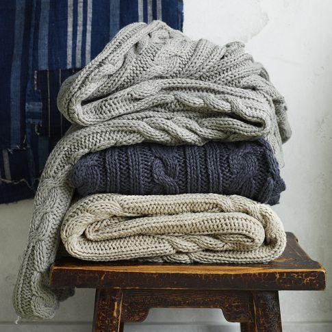 Braided Cable Throw from West Elm $99