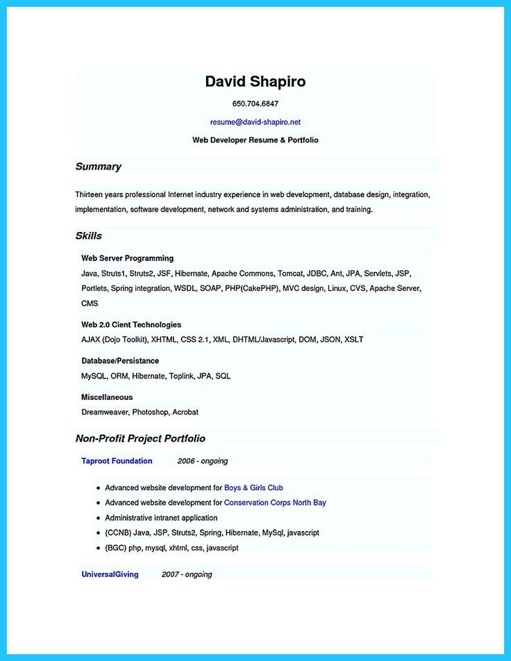 594 best Resume Samples images on Pinterest You are, Career and - application developer resume