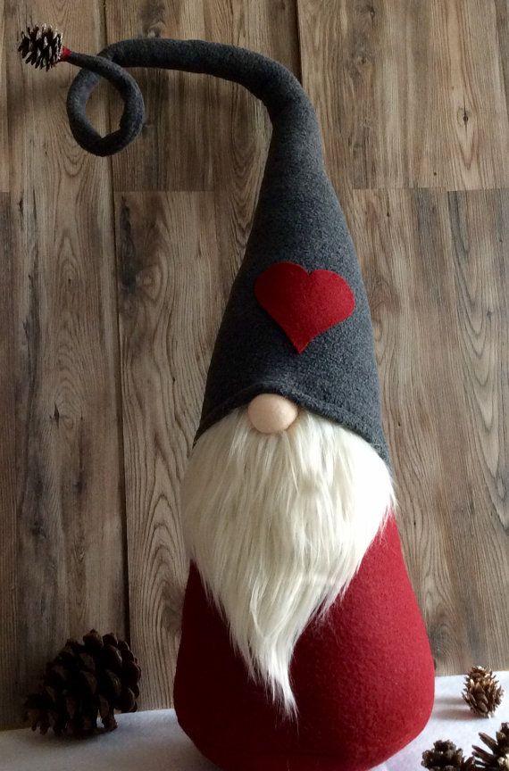 "Jumbo ""Valentine's Day"" Gnome ""Ollie"" Woodland Tomte decoration DaVinciDollDesigns Christmas Collection"