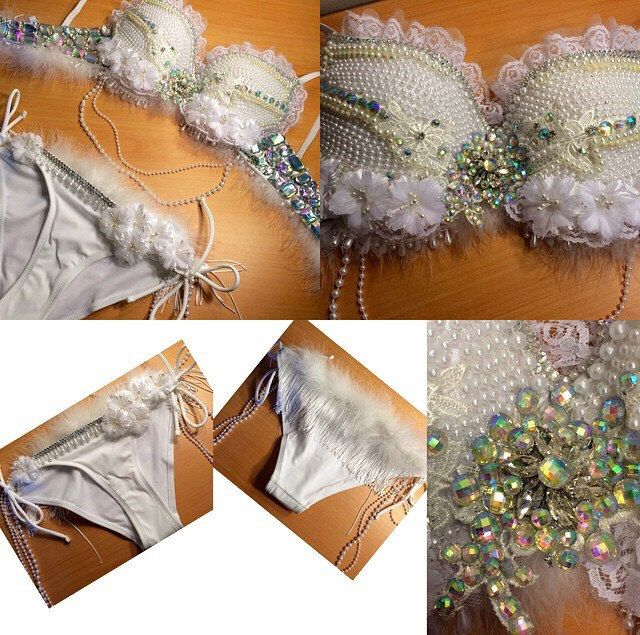 Pearl White Rave Outfit by SparkleMeByMarielle on Etsy https://www.etsy.com/au/listing/225347625/pearl-white-rave-outfit