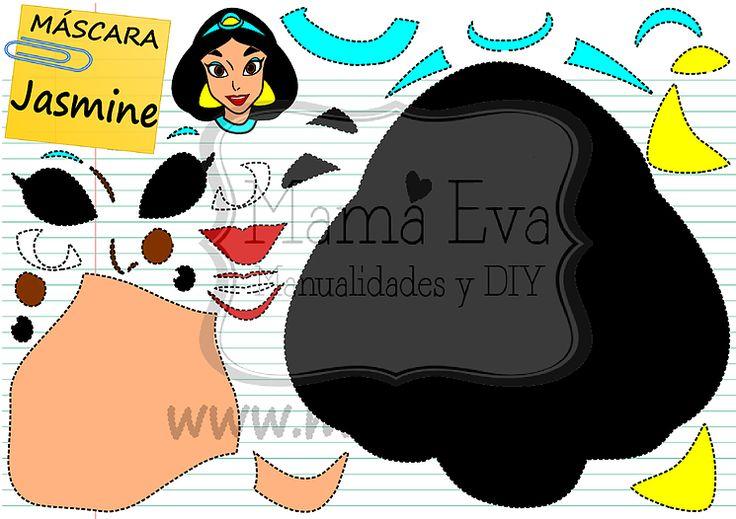 Descarga gratis nuestras plantillas para goma eva y fieltro de tus personajes favoritos: Jasmine, Genio, Aladdin, Jaffar...