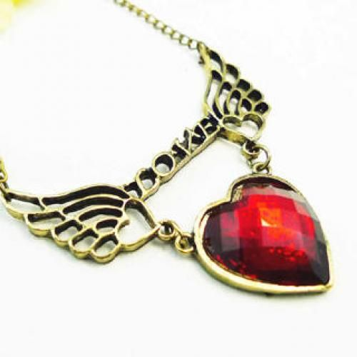 Love And Wings Necklace -Copper Copper - one size
