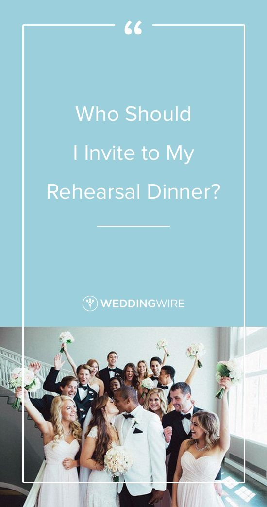 """""""Who Should I Invite to My Rehearsal Dinner?"""" - Explore our definitely-invite, maybe-invite and don't-have-to-invite lists for your rehearsal dinner on @weddingwire!  {Mark Fierst Photography}"""