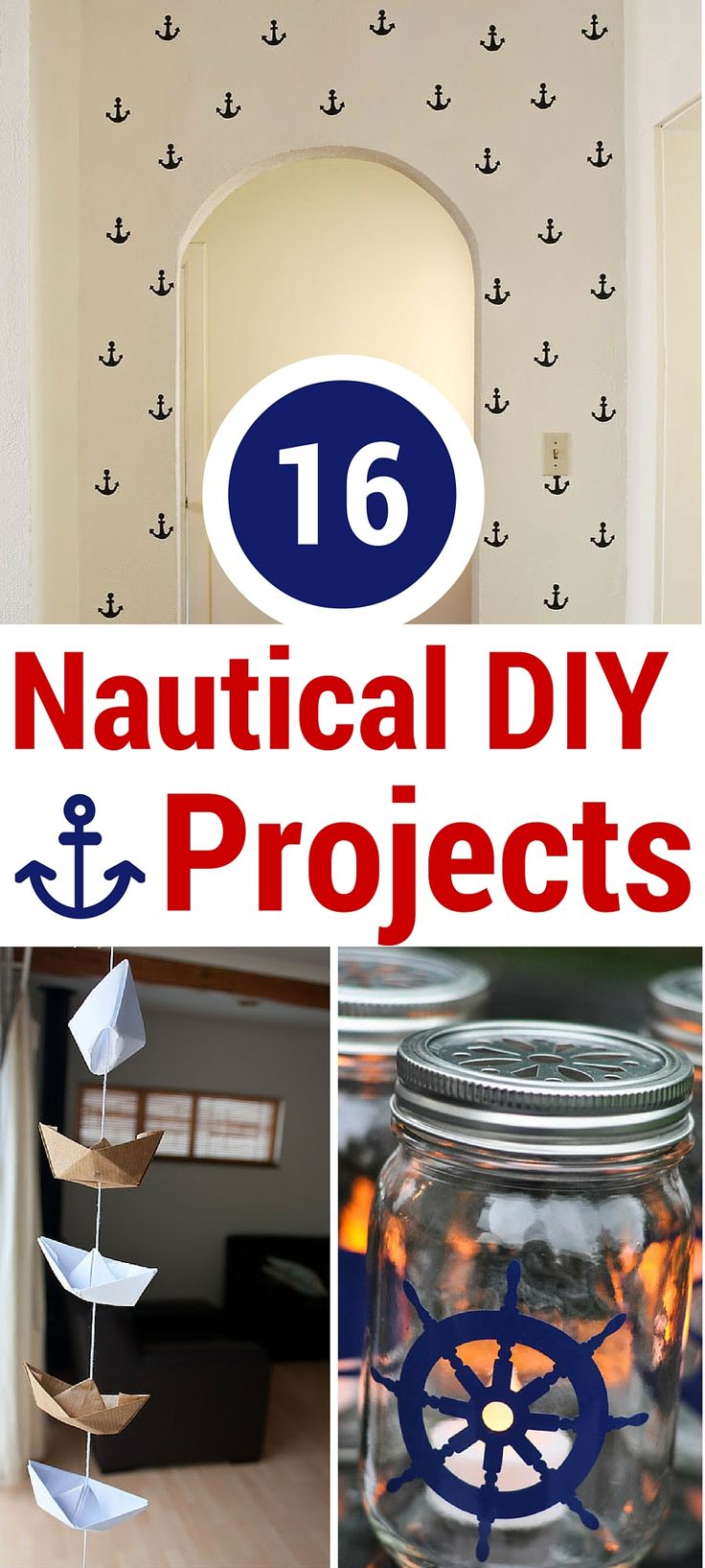 Nautical DIY projects are really in these days. Here are 16 easy projects to give your home a seaside feel, even if you don't live by the beach!
