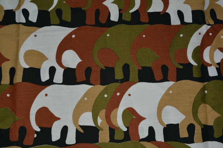 Excited to share the latest addition to my #etsy shop: Novelty fabric border print 70s fabric stylized Leon Rosenblatt fabric African elephant fabric African animals Mod novelty print tote bags http://etsy.me/2Fj24AC