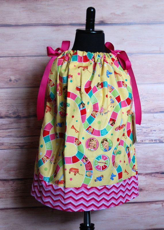 Girls pillowcase dress size 1218 months Dick by LittleDivasnDudes, $19.50