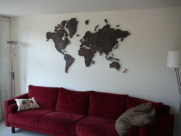 wereldkaart deco artwork