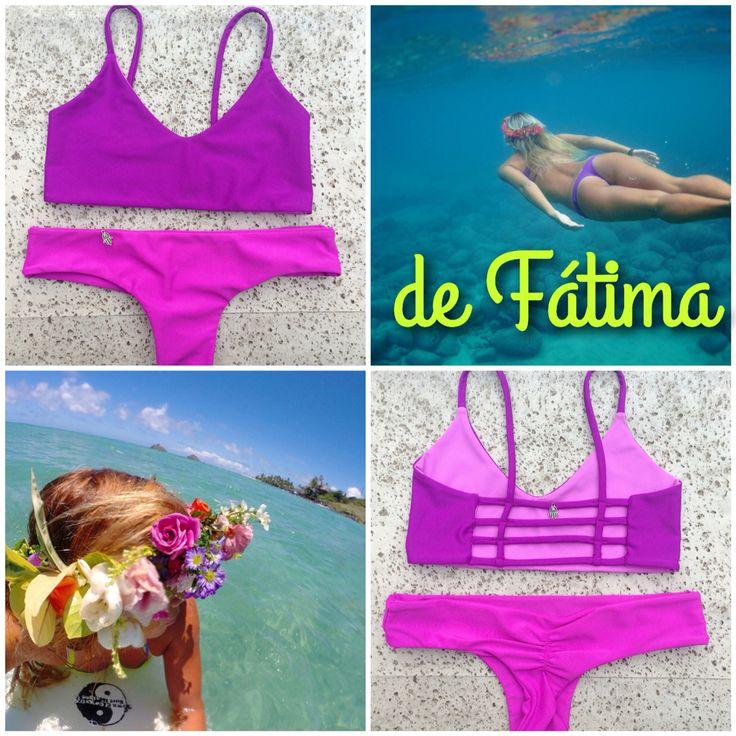 Bikini Espalda Tiritas Morados