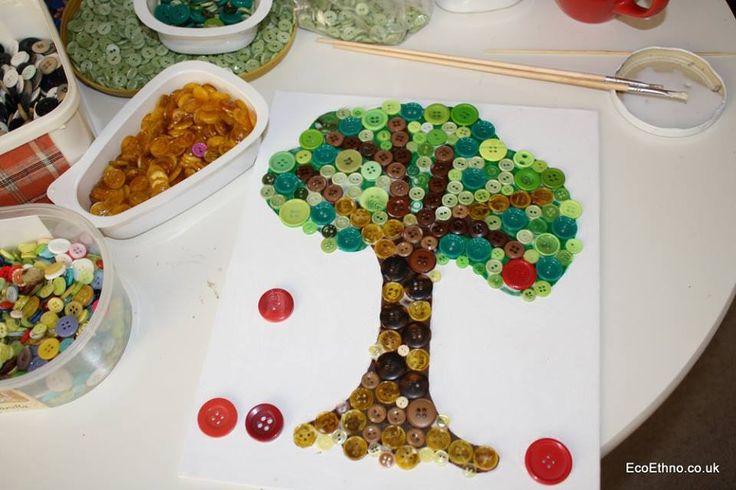 Buttons mosaic #workshopwithchildren