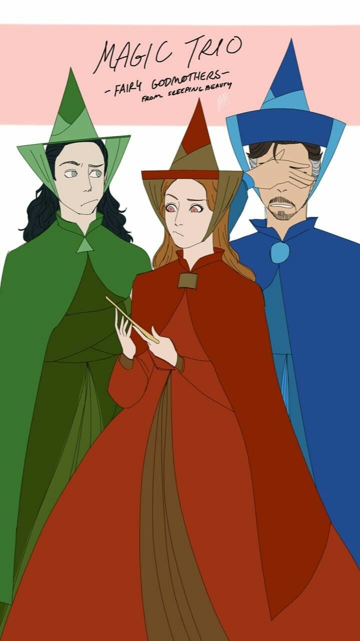 Loki, Scarlet Witch, and Doctor Strange All magic users