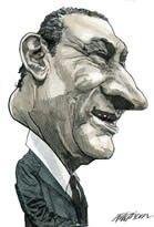 President of Egypt Hosni Mubarak