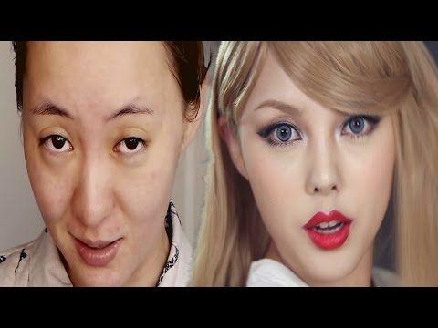 Increíble Transformación TAYLOR SWIFT NIVEL ASIATICO 2017 // AWESOME MAKE-UP ASIAN LEVEL - YouTube