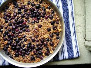 Baked Oatmeal w/ Blueberries Recipe : Get Daily Recipes.com