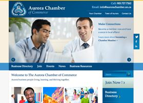 Aurora Chamber of Commerce - Website design and development - Treefrog is your web design, graphic design and web development agency. To see more of our work visit www.treefrog.ca