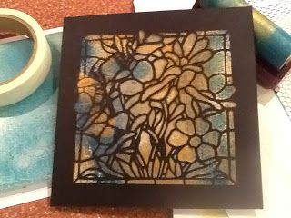 Barbara Gray's Blog. One Day at a Time.: Stained Glass. New Stencil, New Trick...