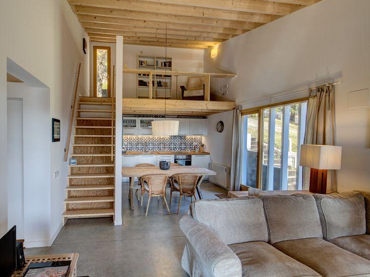 Una acogedora y sostenible casa de montaña