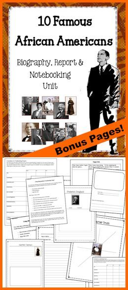 People included: Sojourner Truth, Fredrick Douglass, Harriet Tubman, Dred Scott, Barak Obama, Booker T Washington, Thurgood Marshall, Rosa Parks and Maya Angelo. **Bonus Pages: Generic pages to research and report on additional people as well!  Download Club members can download the ENTIRE UNIT (or) INDIVIDUAL SECTIONS @ http://www.christianhomeschoolhub.com/pt/People-Studies-Notebooking-Pages-and-Units/wiki.htm