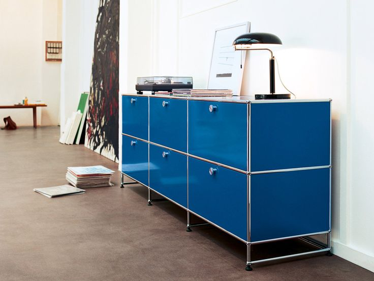 Usm Haller Credenza In Gentian Blue Usm At