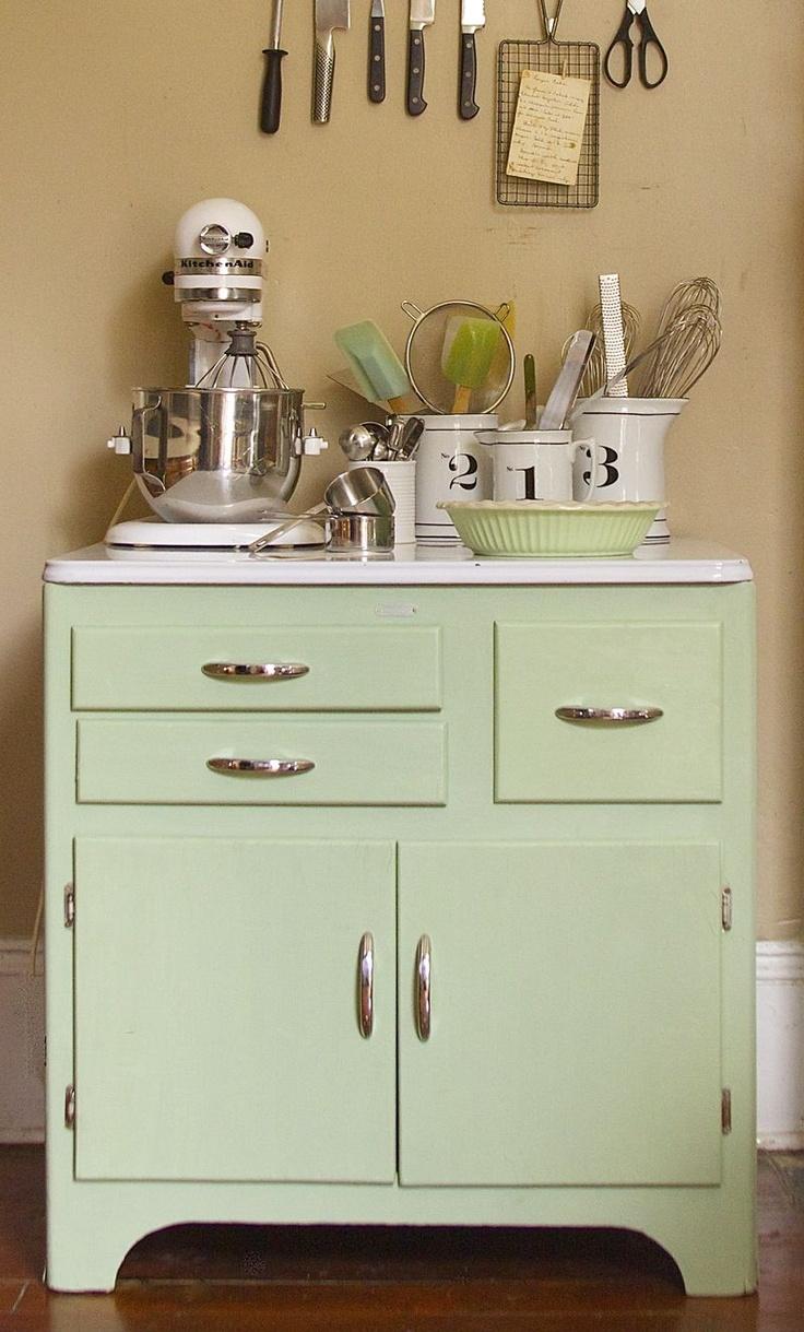 Metal kitchen cabinet, extra work surface & storage ...