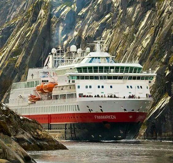 Sailing through Trollfjord