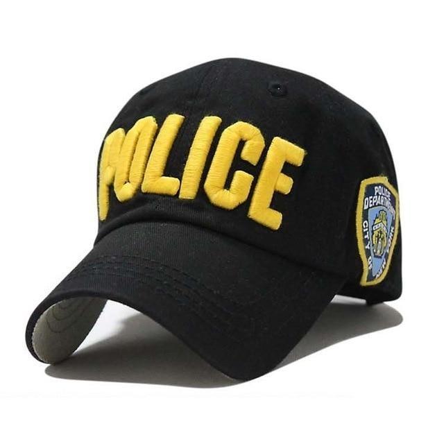 d4b3795176c Letter Baseball Caps Leisure Embroidery POLICE Baseball Cap Snapback Hats  For Men Women