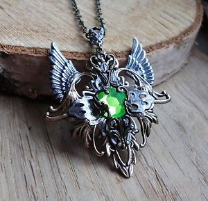 Handarbeit vintage Amulett kette steampunk retro gothic elfe walküre valkyrie