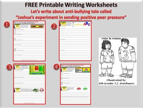 Printable worksheet: Joshua's experiment in sending positive peer pressure