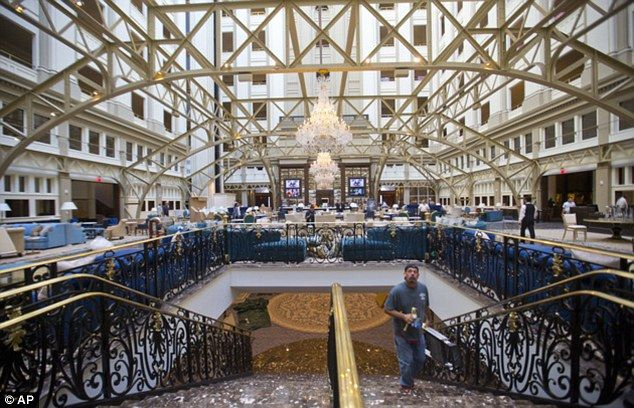 Design: The $200million has become a staging area for big political events, including a reception hosted by Kuwait's ambassador in the hotel's presidential ballroom