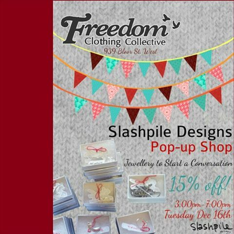Come see us in person!We keep adding more markets to our holiday schedule! Come and shop in person with Slashpile!