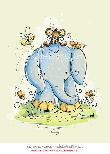 Elephant Friends (2 of 3) by Rachelle Anne Miller, via Flickr
