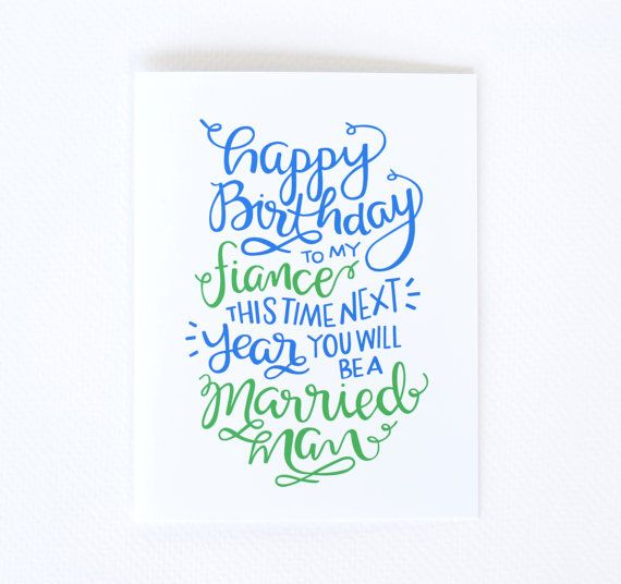 Fiance Birthday Card - Little Print Design