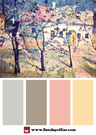 Spring Color Palette: Spring, 1904, by Kazimir Malevich