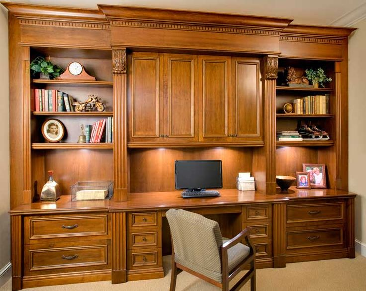 Office Built In Cabinetry Shelving Desk