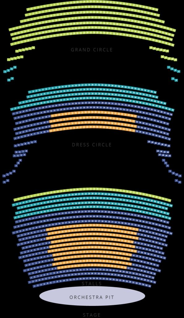 Adelaide Festival Theatre Seating Plan
