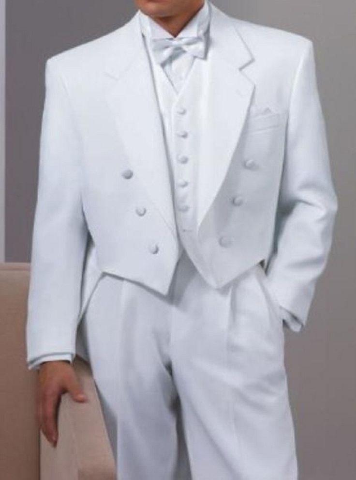 tail tuxedo for men | TAIL TUXEDO WHITE SUPER 150'S WOOL HAND MADE