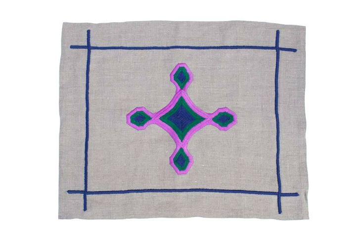 Gods Eye Purple Placemats - Heather Taylor Home | domino.com