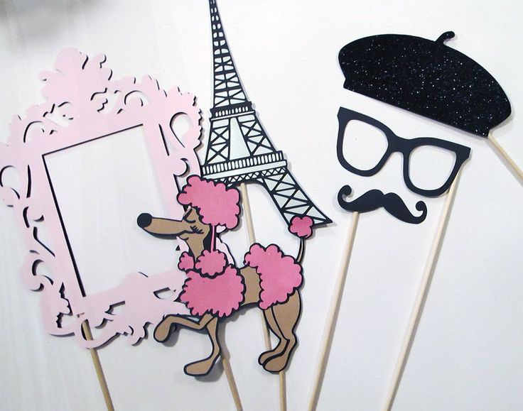 Photo Booth Props - C'est La Vie Collection - Parisian Inspired Photobooth Props. $35.00, via Etsy.