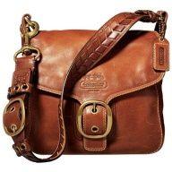 Leather brown buckle cross boy bag