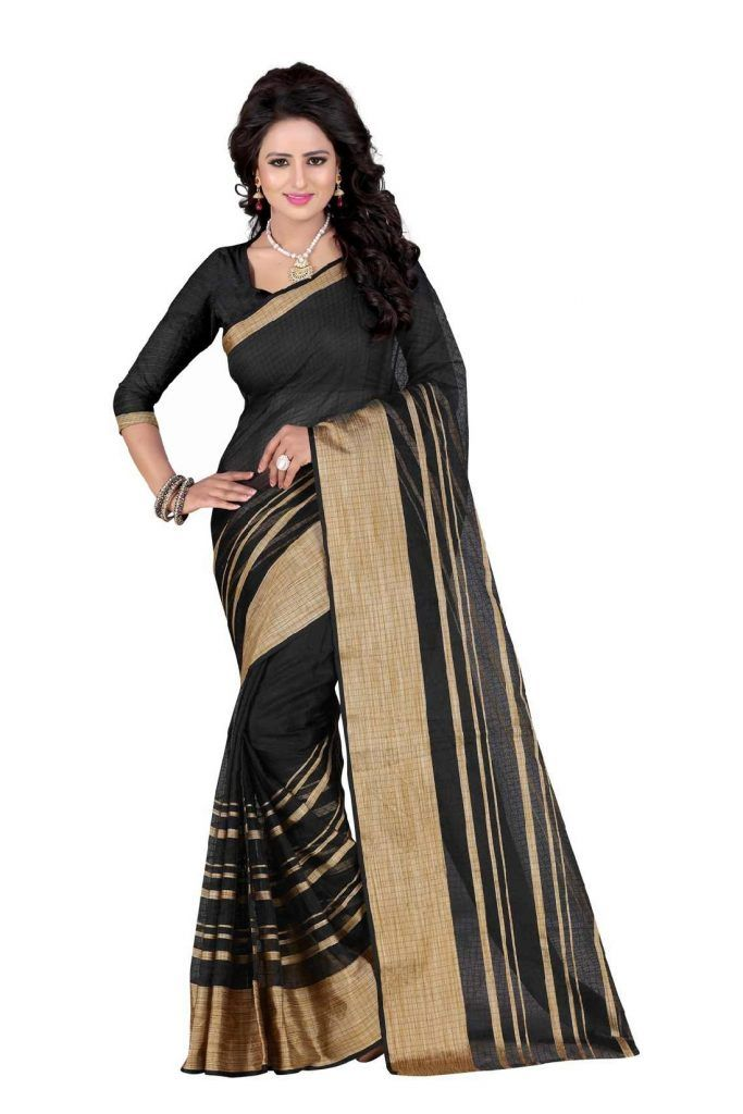 Black And Gold Saree- Indiana Lifestyle Online Shopping