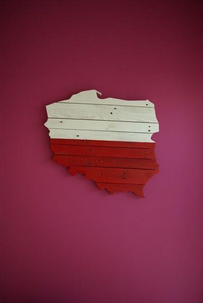 POLSKA... nie tylko patriotyczny kontur na ścianę w Drewno Do Ogrodu na DaWanda.com
